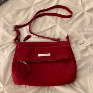 LIZ CLAIBORNE Red Shoulder Strap Purse